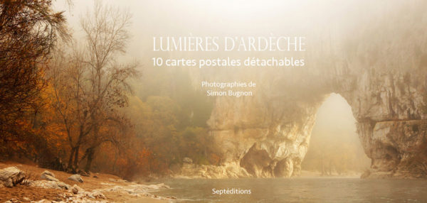 Carnet de cartes postales Lumières d'Ardèche